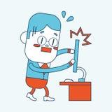 Progettazione dell'illustrazione del carattere fumetto, ENV Fotografie Stock Libere da Diritti