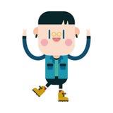 Progettazione dell'illustrazione del carattere fumetto felice del ragazzo, ENV Fotografie Stock