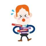 Progettazione dell'illustrazione del carattere Fumetto occupato dell'uomo d'affari, ENV Fotografie Stock