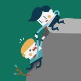 Progettazione dell'illustrazione del carattere Lavoro di concetto degli uomini d'affari insieme Immagine Stock