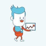 Progettazione dell'illustrazione del carattere Uomo d'affari che pronuncia il discorso Fotografia Stock Libera da Diritti