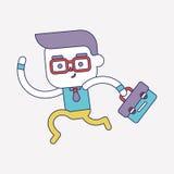 Progettazione dell'illustrazione del carattere Uomo d'affari che va lavorare fumetto Immagine Stock Libera da Diritti