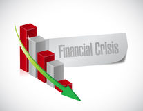 Progettazione dell'illustrazione del grafico di crisi finanziaria Fotografia Stock Libera da Diritti