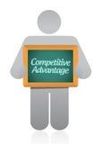 Progettazione dell'illustrazione del messaggio di vantaggio competitivo Immagini Stock Libere da Diritti