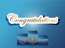 progettazione dell'illustrazione del podio di congratulazione Immagini Stock Libere da Diritti