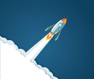 progettazione dell'illustrazione del razzo di volo Fotografia Stock Libera da Diritti