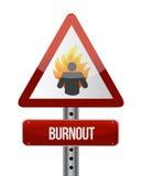 Progettazione dell'illustrazione del segnale stradale di burnout Fotografia Stock Libera da Diritti