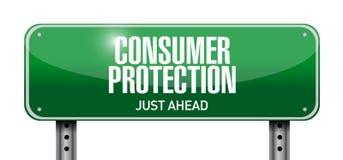 progettazione dell'illustrazione del segnale stradale di tutela dei consumatori Fotografia Stock