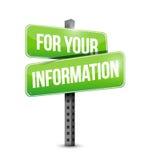 progettazione dell'illustrazione del segnale stradale di For Your Information illustrazione vettoriale