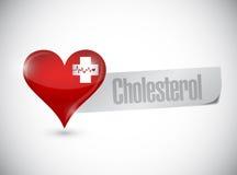progettazione dell'illustrazione del segno del colesterolo del cuore Immagine Stock Libera da Diritti