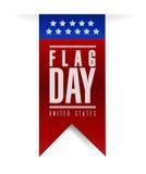 Progettazione dell'illustrazione del segno dell'insegna di giorno della bandiera Immagini Stock