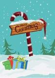 Progettazione dell'illustrazione del segno di Buon Natale Illustrazione di vettore Immagine Stock