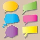 Progettazione dell'illustrazione del vecter dell'icona della bolla della scatola di conversazione Fotografia Stock