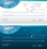 Progettazione dell'illustrazione dell'assegno bancario Fotografie Stock
