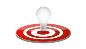 Progettazione dell'illustrazione dell'obiettivo della lampadina Immagini Stock Libere da Diritti