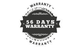 progettazione dell'illustrazione della garanzia da 56 giorni illustrazione vettoriale