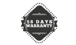 progettazione dell'illustrazione della garanzia da 58 giorni illustrazione vettoriale
