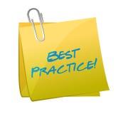 Progettazione dell'illustrazione della posta di best practice Fotografia Stock Libera da Diritti