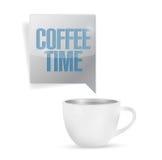 Progettazione dell'illustrazione della tazza di tempo del caffè Fotografia Stock Libera da Diritti