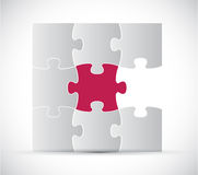 Progettazione dell'illustrazione di colore di puzzle Fotografia Stock Libera da Diritti