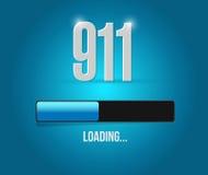 progettazione dell'illustrazione di concetto del segno della barra di caricamento 911 Immagini Stock Libere da Diritti