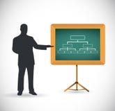 Progettazione dell'illustrazione di concetto di presentazione del diagramma Fotografia Stock