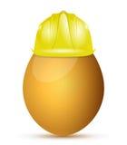 Progettazione dell'illustrazione di concetto di protezione dell'uovo Immagine Stock