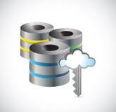 Progettazione dell'illustrazione di dati della base di dati di server grande Fotografie Stock