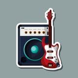 Progettazione dell'illustrazione di musica, vettore editabile Fotografie Stock