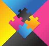 Progettazione dell'illustrazione di puzzle di colore Fotografia Stock Libera da Diritti