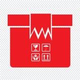 Progettazione dell'illustrazione di simbolo dell'icona del pacchetto della scatola Fotografie Stock