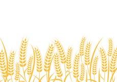 Progettazione dell'illustrazione di vettore del grano di agricoltura illustrazione di stock