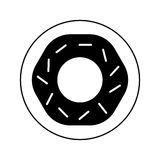 progettazione dell'illustrazione di vettore dell'icona isolata ciambella Immagine Stock Libera da Diritti