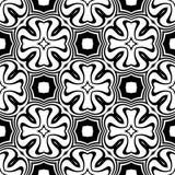 Progettazione dell'immagine senza cuciture di vettore del modello di ripetizione in bianco e nero Fotografia Stock Libera da Diritti