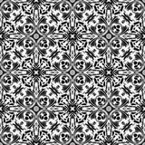 Progettazione dell'immagine senza cuciture di vettore del modello di ripetizione in bianco e nero Immagini Stock