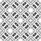Progettazione dell'immagine senza cuciture di vettore del modello di ripetizione in bianco e nero Immagine Stock