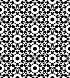 Progettazione dell'immagine senza cuciture di vettore del modello di ripetizione in bianco e nero Immagine Stock Libera da Diritti