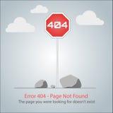 Progettazione dell'impaginazione di errore 404 Immagini Stock