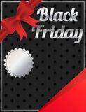 Progettazione dell'insegna dello spazio in bianco di Black Friday Immagine Stock