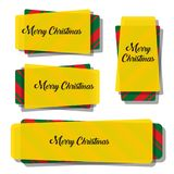 Progettazione dell'insegna di Natale Fotografie Stock