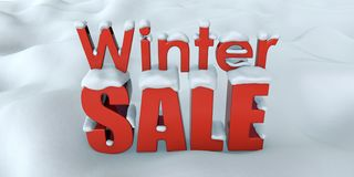 Progettazione dell'insegna di pubblicità di vendita di inverno royalty illustrazione gratis
