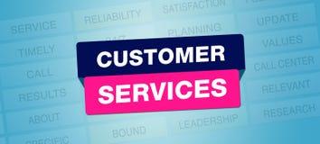 Progettazione dell'insegna di servizi di assistenza al cliente royalty illustrazione gratis