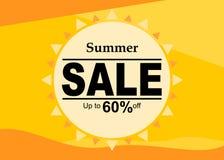 Progettazione dell'insegna di vendita di estate royalty illustrazione gratis