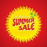 Progettazione dell'insegna di vendita di estate Immagine Stock Libera da Diritti