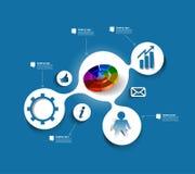 Progettazione dell'insegna di web di Infographic Fotografia Stock