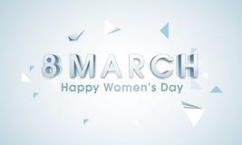 Progettazione dell'insegna o del manifesto per il giorno delle donne felici Fotografia Stock Libera da Diritti