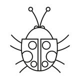 progettazione dell'insetto illustrazione vettoriale