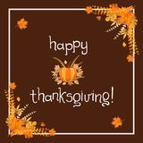 Progettazione dell'invito della cena di ringraziamento di Handlettering Immagini Stock
