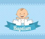 Progettazione dell'invito di battesimo illustrazione vettoriale