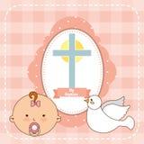 Progettazione dell'invito di battesimo royalty illustrazione gratis